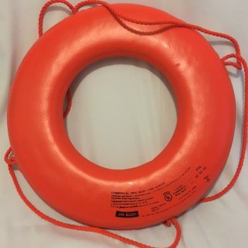 Orange Ring Buoy with Rope - Jim-Buoy- GOX-24
