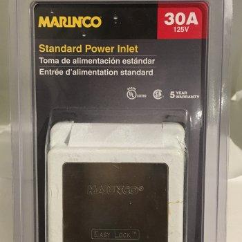 Power Inlet Marinco 301EL-B (New)